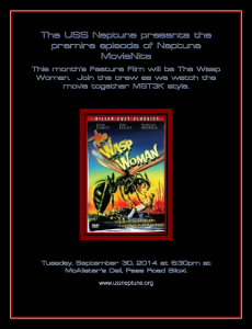 The USS Neptune presents the premire episode of Neptune MovieNite