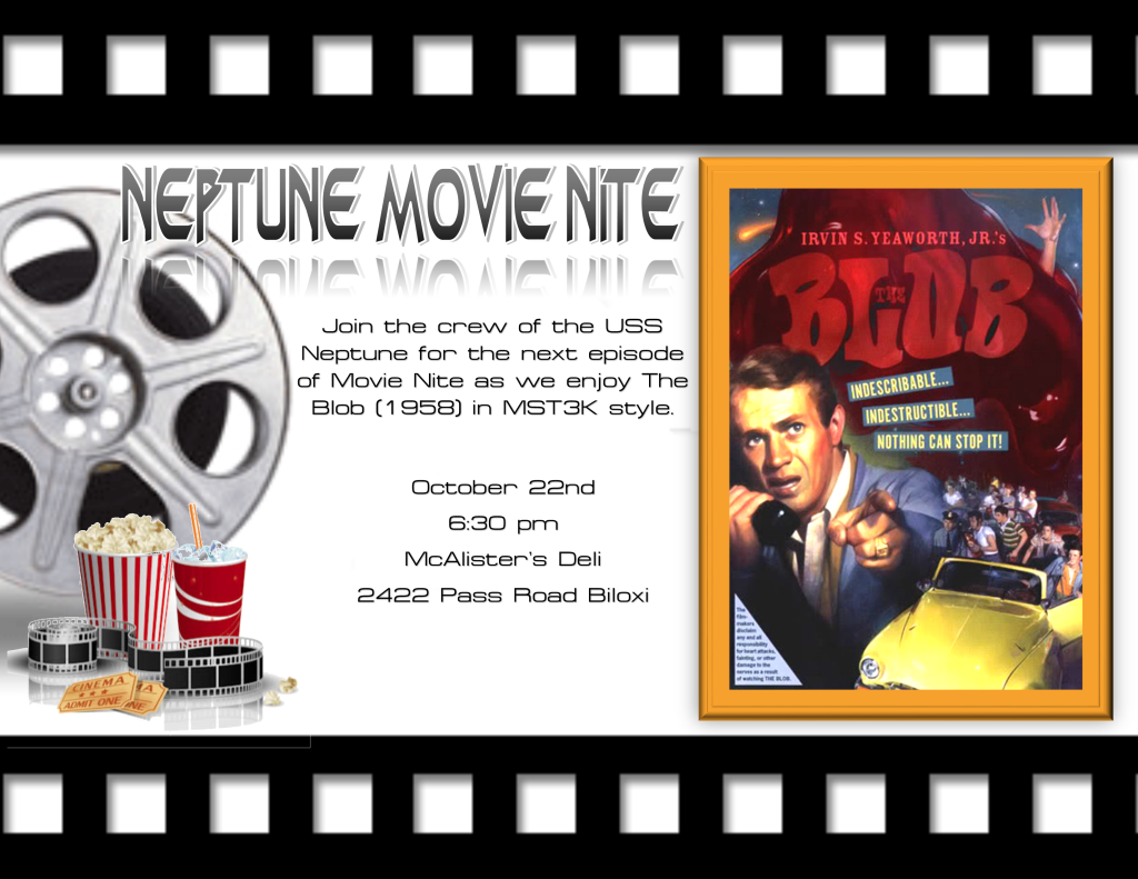 Movie nite Blob adverisement